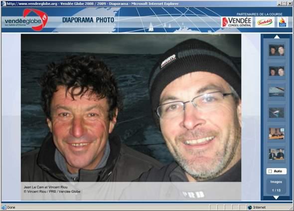 Jean és Vincent együtt a PRB fedélzetén a mentés után