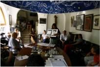Vándoriskola, felvételi meghallgatás 2008: Varjasy Anikó: ravatalozó terv (Zsámbék temető)